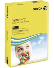 XEROX SYMPHONY A4 80GSM Coloured Dark Yellow PAPER 50 SHEETS