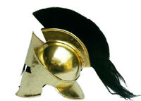Medieval King Leonidas Roman Brass Spartan 300 Movie Helmet W/ Black Plum