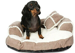 Aspen Pet Sofa Bed with Pillow for Comfort and Support