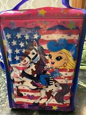 New listing Lisa Frank Lunchbox Vintage Cowgirl Riding Horse Glittery Lunch Box Bag