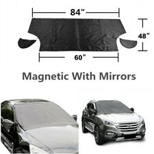 1x Car Offroad Windshield Glass Snow Cover w/Magnetic Edges + Mirror Snow Covers