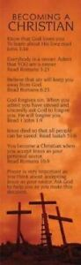 Becoming A Christian Bookmark (Pack of 25)