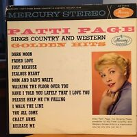 Vintage Vinyl 33rpm LP Record: Patti Page, Sings Country & Western Golden Hits