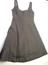 J.Crew Silk Brown Sleeveless Sz 8 Wedding Cocktail Party Bridesmaid Dress 86205