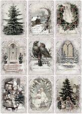Decoupage-Bastelpapier-Softpapier-Vintage-Winter-Weihnachten-Christmas-12691