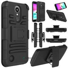 Hybrid Phone Case Kickstand Holder Holster Belt Clip Cover For LG K20 Plus/TP260