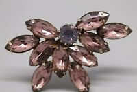 "Vintage Purple Rhinestone 2"" Butterfly Brooch"