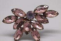 """Vintage Purple Rhinestone 2"""" Butterfly Brooch"""
