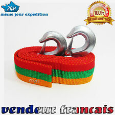 NEUF CORDE CABLE SANGLE DE REMORQUAGE TRACTION  4 M 5 TONNES 5000 KG