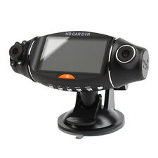 "2.7"" LCD Dual Camera Rotated Lens Car DVR Vehicle Video Recorder Dash Cam GPS"