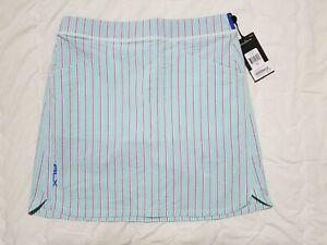 1 NWT RALPH LAUREN RLX WOMEN'S SKORT, SIZE: SMALL, COLOR: GREEN/PINK/BLUE (J120)