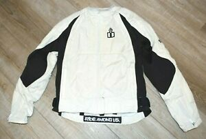 Icon Motorsports Merc Women's White Motorcycle Riding Asphalt Jacket Size Medium