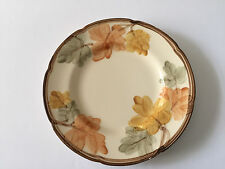 """Franciscan USA Dinnerware OCTOBER Brown & Yellow Leaves - 8"""" SALAD PLATE"""