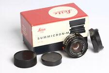 Leica Summicron 2/35mm black  TOP  Mint !