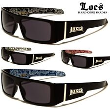 Locs Sunglasses - Square Wrap Around Frame - Bandanna Print - FREE POST IN AUS