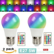 2pcs 16 Color Changing Light Bulbs with Remote Dimmable LED Light Bulb E27 Base
