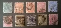Great Britain QV SC 78-87 * 1880-81 * LC P14 * Complete Set Early Classics