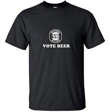 VB Vote Beer Funny Adult T Shirt Black Drinking Funny Custom