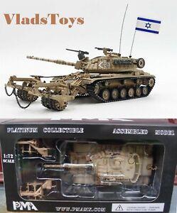 PMA 1/72 Magach 6 battering-ram M60A1 Tank w/KMT-4 Mine Roller Israel IDF P0337
