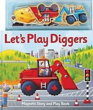 Magnetic Let's Play Diggers by Clover, Alfie | Hardcover Book | 9781846668272 |