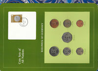 Coin Sets of All Nations Guernsey 1979-1984 UNC £1, 20, 50 Pence 1983 24MR83