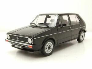 VW Golf 1 L schwarz Modellauto 1:18 Solido