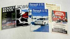 5 Prospekte Renault 5 TS fünf aus den 80er Jahren + Preisliste März 1986