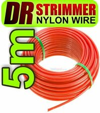 5m DR Strimmer Cord Line Wire String Nylon 4mm Round Petrol TRIMMER HEAVY DUTY