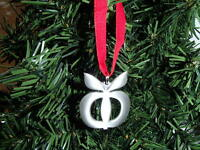 Swedish Pewter Christmas Ornament Tennesmed Sweden Apple #J-210