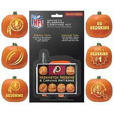 Washington Redskins Halloween Pumpkin Carving Kit NEW!Stencils for Jack-o-latern