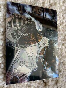 Darth Vader Chrome Chromium Star Wars Finest 1996 SWF2 Trading Card Rare Topps