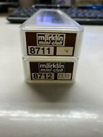 Marklin Mini club Z Scale 8711 & 8712 Passenger 2 Car Set