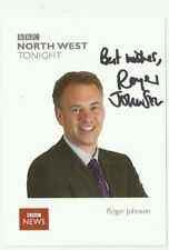 Roger Johnson BBC Breakfast and North West Tonight presenter hand signed photo
