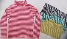 Girls MINI BODEN top t-shirt long sleeve roll neck striped 3 4 5 6 7 9 10 years