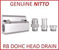 NITTO RB HEAD OIL DRAIN 5/8 HOSE FITTING for NISSAN SKYLINE BNR34 GTR