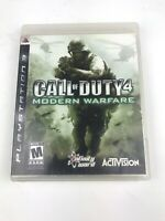 Call of Duty 4: Modern Warfare (Sony PlayStation 3 PS3, 2007) Complete in Box