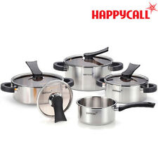 [HAPPYCALL]Full-body 3-ply IH Stainless Steel Ceramic Pots  4 Set ////