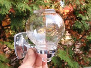ANTIQUE / VINTAGE BATHROOM GLASS  & CHROME  SOAP DISPENSER