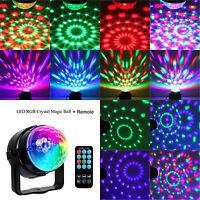Proiettore Laser Luci Discoteca Led RGB Palla Sfera Rotante Dj con Telecomando