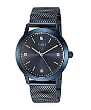 Guess  Men's Classic Blue Stainless Steel Mesh Watch - U0919G4