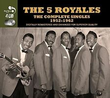 """THE """"5"""" ROYALES - COMPLETE SINGLES 1952-1962 - 4CD-BOX NEW  (99 Tracks)"""