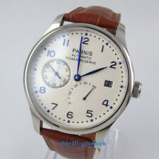 43mm Parnis White dial Power Reserve ST2530 Automatic Men's Watch 1270