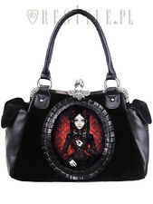 Restyle Red Doll Rose Floral Gothic Lolita Skull Emo Occult Punk Purse Handbag