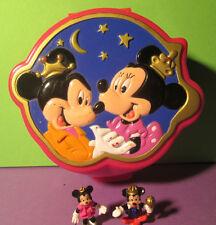 Polly Pocket Mini DISNEY ♥ Mickey Mouse ♥ IN RILIEVO LATTINA di ♥ 100% COMPLETO ♥ 1995 ♥