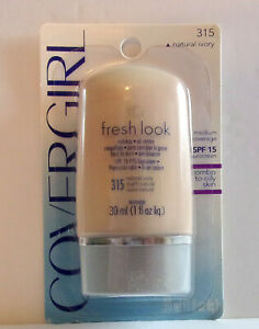 CoverGirl Fresh Look Oil Control Makeup #315 Natural Ivory, 1oz. 30mL Lot of 10