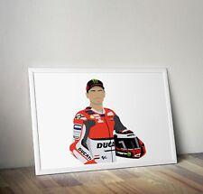 Jorge Lorenzo, MotoGP, grabado, cartel, grabados, carteles, pared Arte, Regalo, Regalos