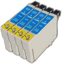 4 T0712 cyan non-oem cartouche d'encre pour Epson Stylus SX210 SX215 SX218 SX400