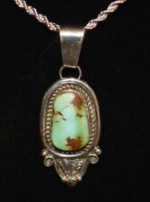 Necklace Carico Lake Turquoise Sterling Silver Native American Navajo Artist Lmc