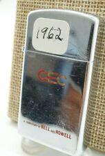 1962 flat bottom Zippo Cec Bell & Howell condition lighter