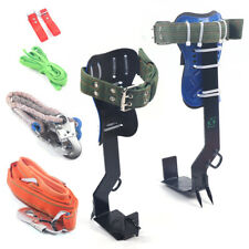 2 Gear Treepole Climbing Spike Safety Belt Straps Carabiner Ropes Full Kit